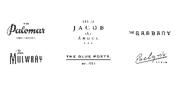The Palomar, The Barbary, Jacob the Angel & The Blue Posts logo